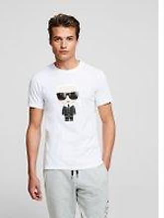 T-Shirt Mode Karl Lagerfeld Impression Manche Courte Tee D/écontract/ée En Vrac Maillot De Corps Unisexe//blanc//XS
