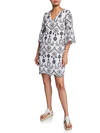 fc51450a52 Sail to Sable Eyelet Embroidered Bell-Sleeve Dress