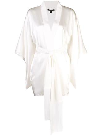 Kiki De Montparnasse Kimono oversized com cinto - Branco