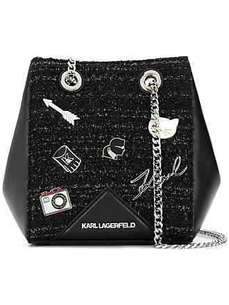 Karl Lagerfeld Bolsa tiracolo K/Klassik de couro - Preto