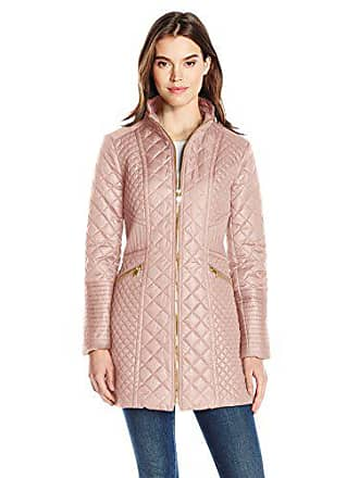 75f81b75ba0 Via Spiga Womens Diamond Quilted Mid-Length Lightweight Jacket, Blush,  Medium