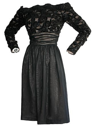 dc469d27265272 1stdibs Vintage Kevan Hall Couture Off-shoulder Sequin Chiffon Dress