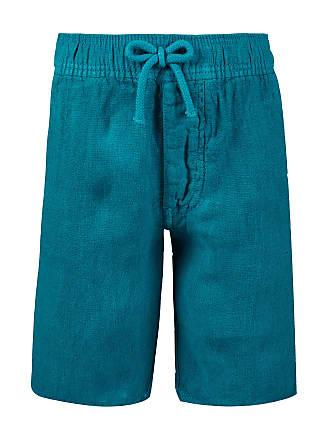 Vilebrequin Boys Ready to Wear - Boys Linen Bermuda Shorts Solid - BERMUDA - BAHAMI - Green - 14 - Vilebrequin