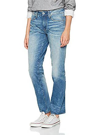 116832c9aa8d7 G-Star Lanc 3D High Straight WMN, Jean Droit Femme, Bleu (Medium