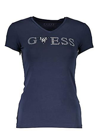 f2bf9f140e6e Guess VN Crystal T-Shirts & Poloshirts Damen Blau - XS - T-Shirts