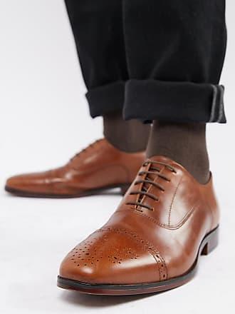 fdfa6bc1d10d4 Asos Chaussures richelieu en cuir avec semelle naturelle pointure large -  Fauve - Fauve