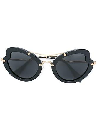 f20c0187da675 Miu Miu Eyewear Óculos de sol oversized - Preto