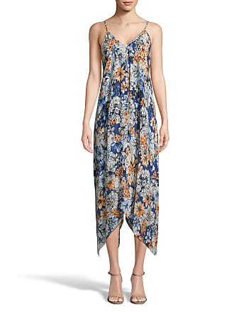 5twelve Floral Sleeveless Sharkbite Maxi Dress
