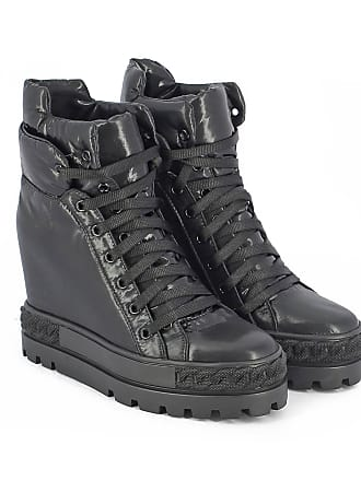 Casadei SNEAKER HIGH TOP IN PELLE CON ZEPPA INTERNA 7 colore NERO f2eabebc446