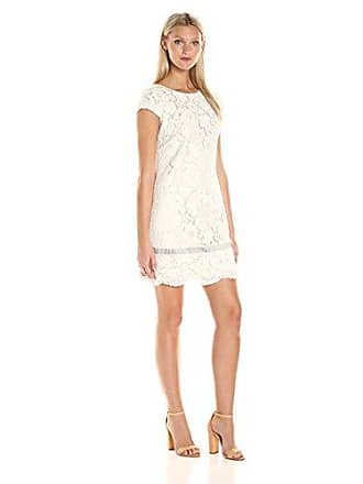 Vince Camuto Womens Short Sleeve Shift Dress, Ivory, 8
