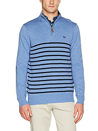 0dcf9f8870f9 Crew Clothing Classic 1 2 Zip-Maglione Uomo Blue (Relaxed Blue) Large