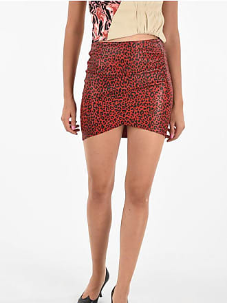 Drome Leather Leopard-Print Skirt size Xl