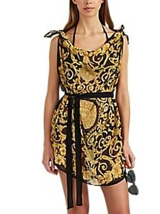 0ed21a8bccd Versace Womens Tie-Detailed Baroque-Print Silk Caftan - Black Size 44 IT
