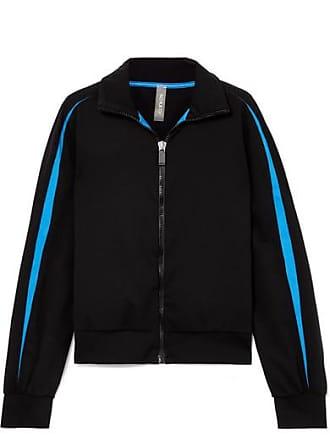 No Ka'Oi Ikena Nola Striped Stretch Track Jacket - Black
