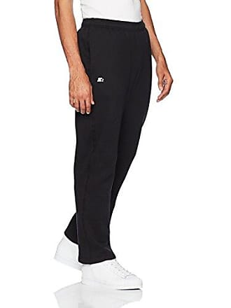 7111e3c1187f44 Starter Mens Open-Bottom Sweatpants with Pockets, Amazon Exclusive, Black,  XXX-