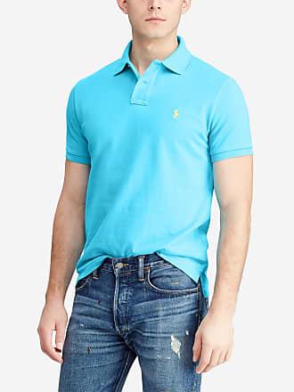 ccaa1d60a6d Polo Ralph Lauren Polo droit manches courtes Bleu Polo Ralph Lauren