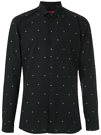 HUGO BOSS Camisa extra slim fit estampada - Azul