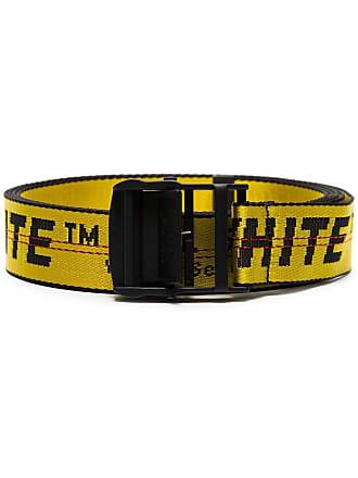 Off-white Cinto Industrial com logo - Amarelo