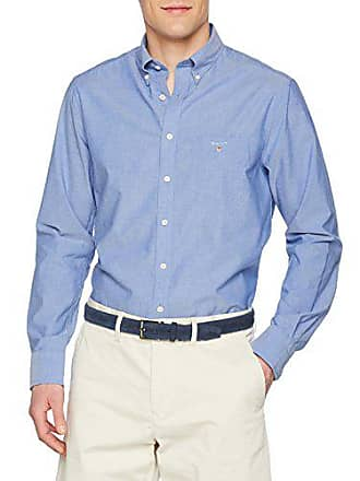 8b6ffc9719 GANT The Broadcloth Reg BD Camicia, Blu (College Blue 436), Small Uomo