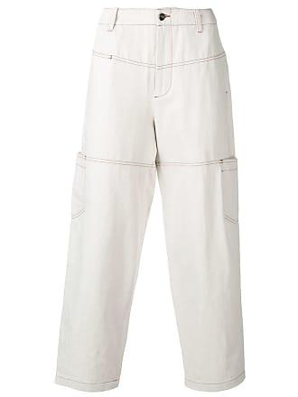 Qasimi low-rise loose parchment trousers - Neutrals