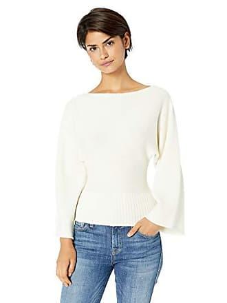Ramy Brook Womens Robyn Dolman Sweater, Cream, Large