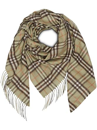 06eb6e158c6fe Burberry The Burberry Bandana in Check Cashmere - Green