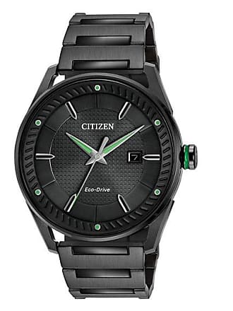 Zales Mens Drive from Citizen Eco-Drive CTO Black IP Watch with Black Dial (Model: Bm6985-55E)