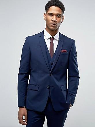 River Island marinblå kostymjacka i smal passform - Marinblå 1d292cb58607d