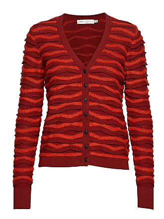 c700fdc5 Inwear Falulahiw Cardigan Stickad Tröja Cardigan Röd INWEAR