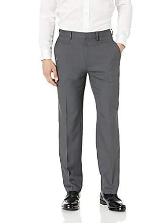 Haggar Mens Travel Performance Stria Tic Tailored Fit Suit Separate Pant, Dark Heather Grey, 40Wx32L