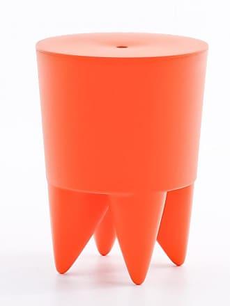 XO Design Bubu Ier Hocker - orange delhi/durchgefärbt/H 43cm/Ø 32,5cm