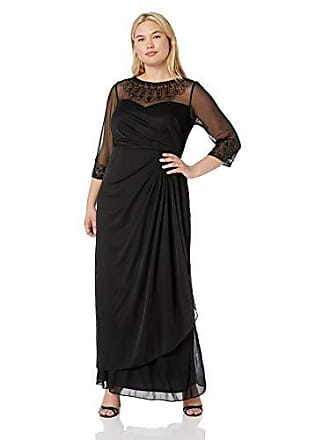 c3e0f48f1c5 Alex Evenings Womens Plus Size Long Sleeve Sweetheart Neckline Dress