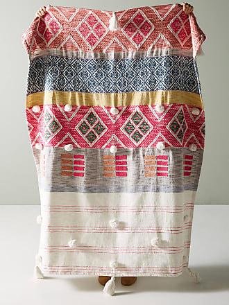 Anthropologie Woven Rosewood Throw Blanket