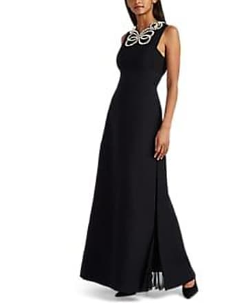 6a3924ae24a5 Fendi Womens Pearl-Embellished Wool-Silk Crepe Gown - Black Size 36 IT
