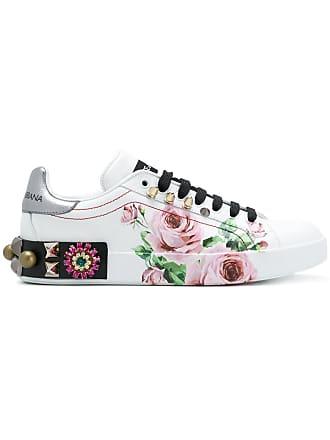 Dolce & Gabbana Tênis estampa Farfalle Rosa - Branco