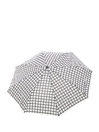 Forever 21 Forever 21 Grid Print Umbrella White/black