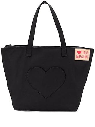 57949855bd4f Love Moschino love heart tote bag - Black