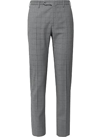Incotex Slim-fit Tapered Prince Of Wales Checked Woven Trousers - Gray