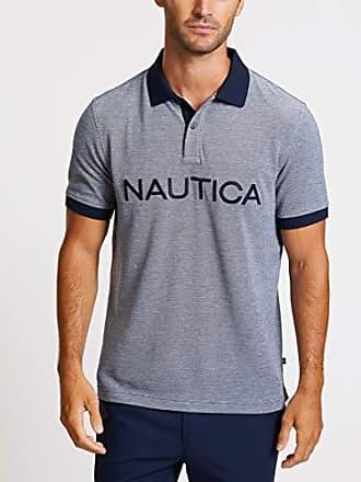 21945207018e5 Nautica Mens Short Sleeve Cotton Pique Oxford Polo Shirt