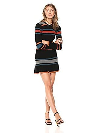 d0be273e8d0 cupcakes and cashmere Womens Manet Yarn Dyed Sweater Dress w hemm Flounce