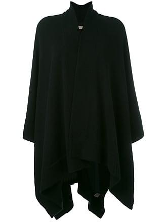 N.Peal poncho cardigan - Black