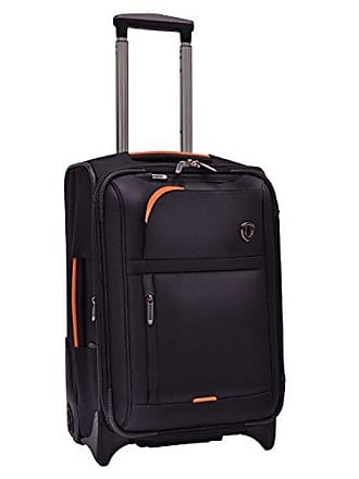Travelers Choice Birmingham Lightweight Expandable Rugged Rollaboard Rolling Luggage - Black (21-Inch)