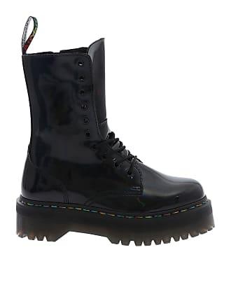 Dr. Martens Black Jadon Hi military ankle boots