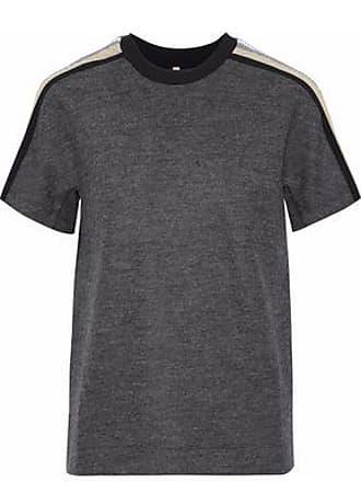 No Ka'Oi No Ka oi Woman Uala Shell-trimmed Wool-blend Top Dark Gray Size 00