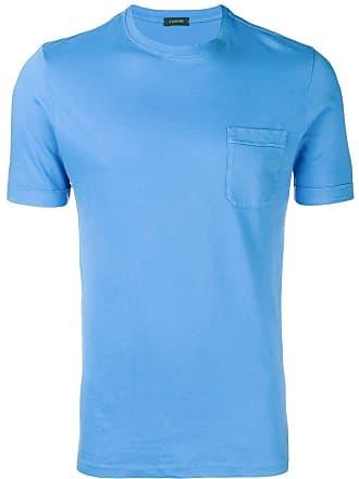 Zanone Camiseta com detalhe de bolso - Azul