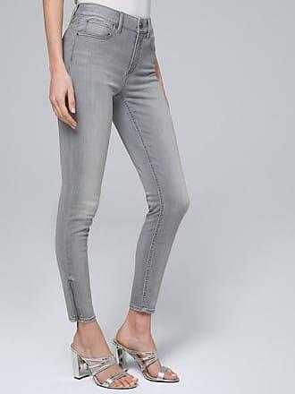 White House Black Market Womens High-Rise Skinny Cropped Jeans by White House Black Market, Gray, Size 00 - Regular