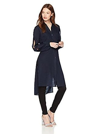 b3869006c26 Jones New York Womens Long Tunic W/Split Sleeves, Navy, S