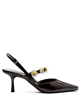 6bdc8b0ff97b8 Fabrizio Viti Bea Daisy Embellished Leather Slingback Pumps - Womens -  Black White