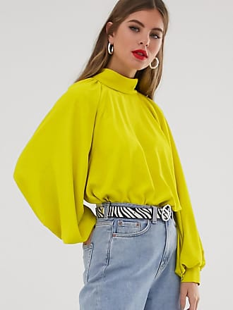 Asos high neck top with long sleeve - Green