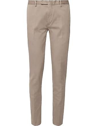 Boglioli Stone Slim-fit Stretch-cotton Drill Suit Trousers - Stone